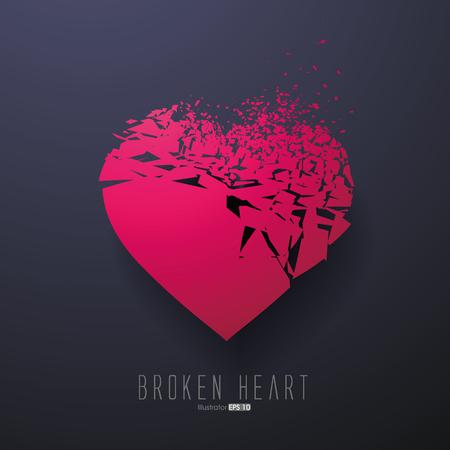 heart damage: Broken Heart,Vector Graphics