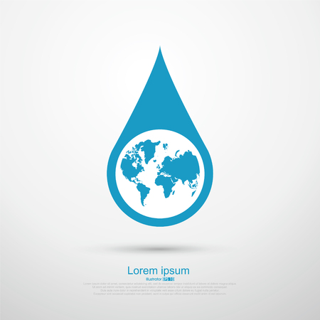 droplet: Drop the Earth, vector illustration Illustration
