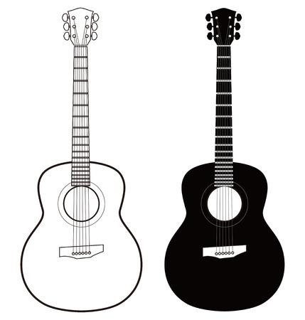 guitarra Ilustración de vector