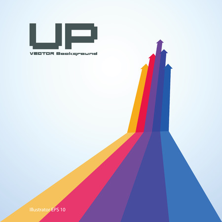 Abstract illustrations of up