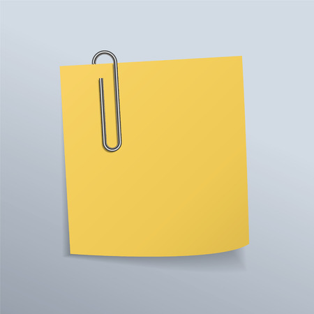 paper clips: Paper clips and paper notes