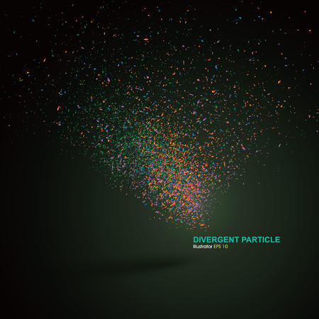 particle: Divergent particle background