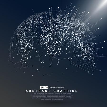 Wereldkaart punt, lijn, de samenstelling, die de wereldwijde Global netwerkverbinding, internationale betekenis.