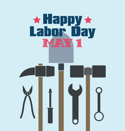 industrious: Labor Day theme illustration design, flat style. Illustration