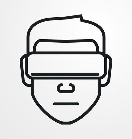 icono de avatar VR.