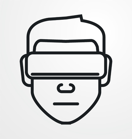 VIRTUAL REALITY: VR avatar icon. Illustration