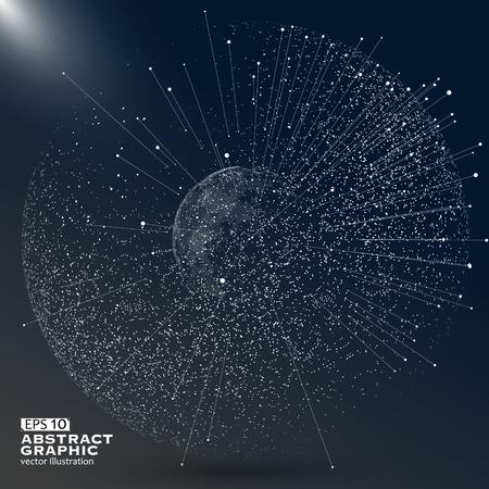 Weltkarte Punkt, Linie, die Zusammensetzung, die die globale, globale Netzwerkverbindung, internationale Bedeutung. Vektorgrafik