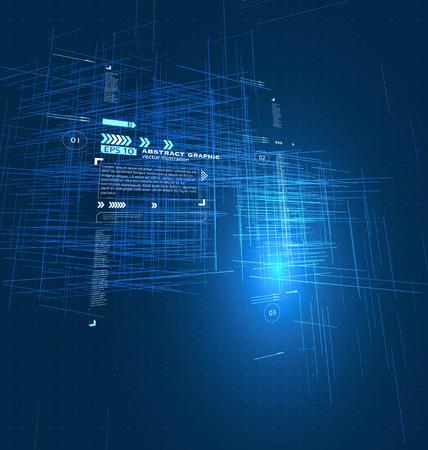 perpective: Virtual electronic street,Abstract illustration sense of technology.