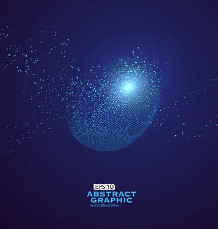 rendering: Particle abstract graphics