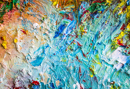 paints: Oil paints incentive effect. Stock Photo