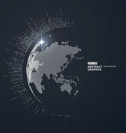 meaning: World map point, line, composition, representing the global, Global network connection,international meaning. Illustration
