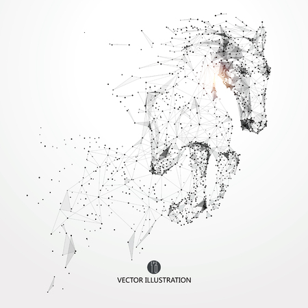 subduction: Galloping horse,lines and connected to form,The moral development and progress.