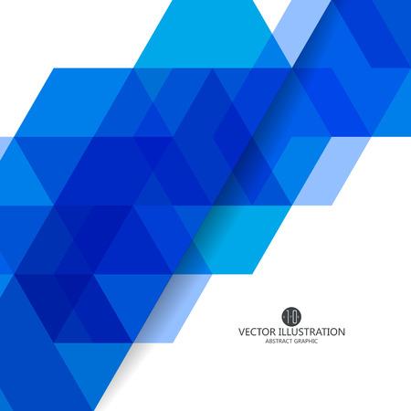 triangular shape: Triangular composition of abstract graphics, Vector illustration. Illustration