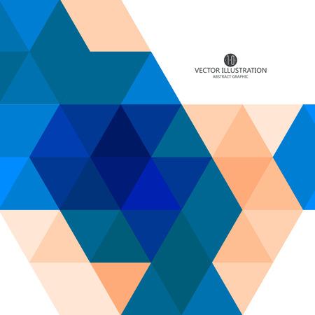 triangular: Triangular composition of abstract graphics, Vector illustration. Illustration