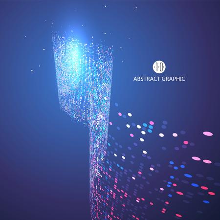 particules tourbillonnant graphiques abstraites
