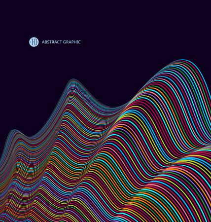 sense: Abstract graphics, Technological sense vector illustration.