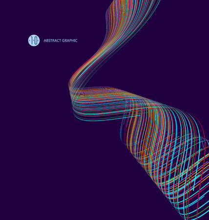wormhole: Abstract graphics, Technological sense illustration. Illustration
