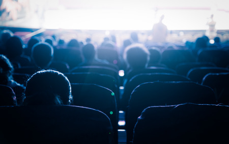 Cinema or theater in the auditorium,business background. Stok Fotoğraf - 58557080