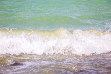 waves crashing: Plateau Lake waves crashing on seashore