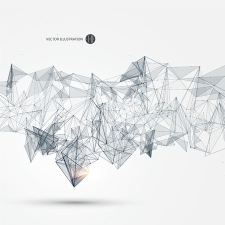 Abstract graphic consisting of points, lines and connection, Internet technology. Illustration