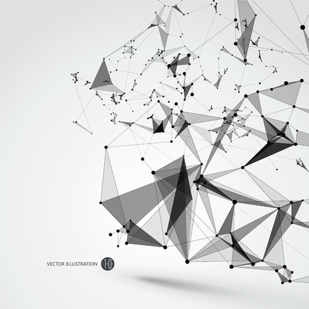 abstract backgrounds: Abstract graphic consisting of points, lines and connection, Internet technology. Illustration