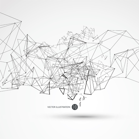 dynamic: Dot line connected to the abstract graphics, the meaning of network connection. Illustration