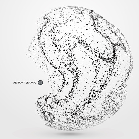 dynamic: Irregular abstract graphics, dynamic particle composition.
