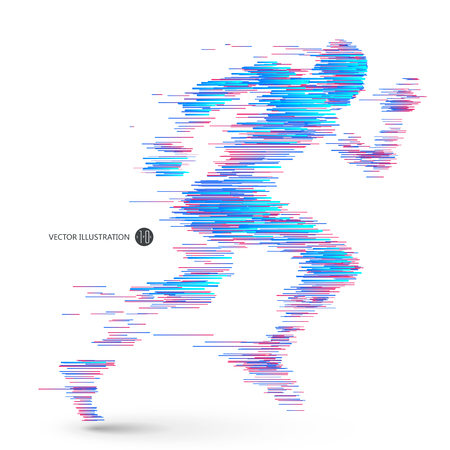 running: man running Illustration