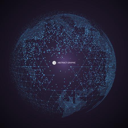 Punto della mappa del mondo, linea, composizione, che rappresenta il collegamento globale, di rete globale, significato internazionale.