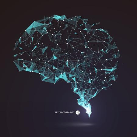 Przewody z punktu grafiki mózgu, ilustracji.