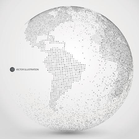 universum: Dreidimensionale abstrakte Planeten, Punkte, die die globale, internationale Bedeutung.