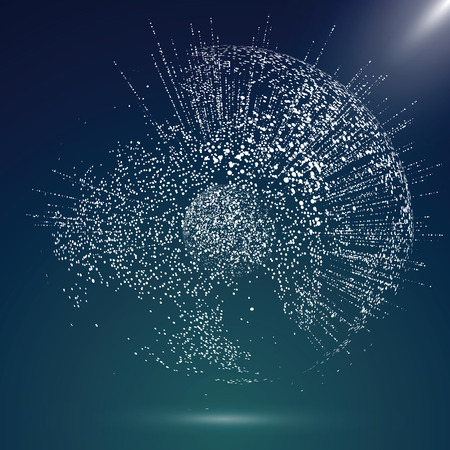 글로벌지도 포인트, 라인, 컴포지션, 글로벌, 글로벌 네트워크 연결, 국제 의미를 나타내는. 일러스트
