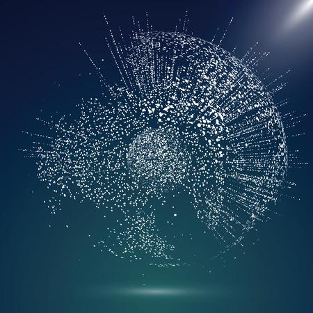 Mappa del mondo punto, la linea, la composizione, che rappresenta la connessione di rete Globale significato internazionale.