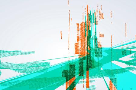 abstrakcja: Streszczenie projektu graficznego, poczucie nauki i technologii tle.