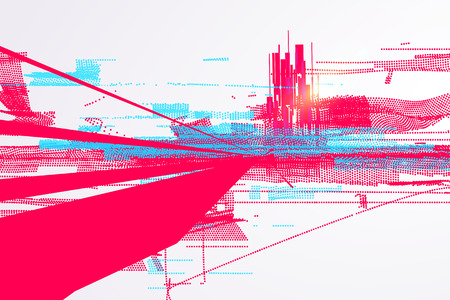 Abstract graphic design, a sense of science and technology background.