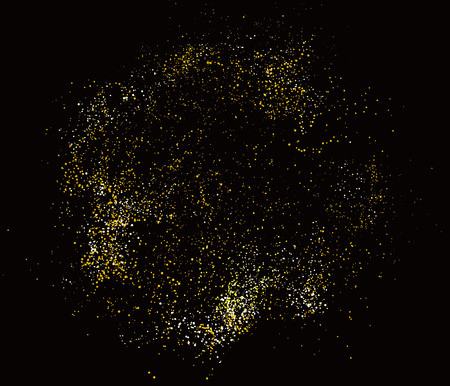 divergence: Abstract Graphic Design of Particle Composition.