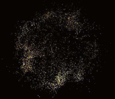 Resumen de diseño gráfico de la composición de la partícula.