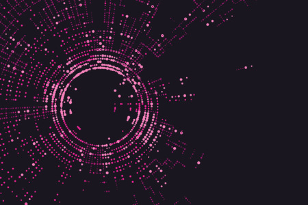 wormhole: Radial lattice graphic design, abstract background.