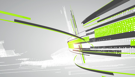 technology abstract background: Abstract graphic design, a sense of science and technology background.
