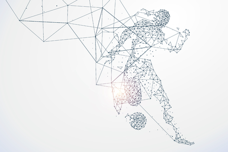 Sports Graphics particles, Network connection turned into, illustration.  イラスト・ベクター素材