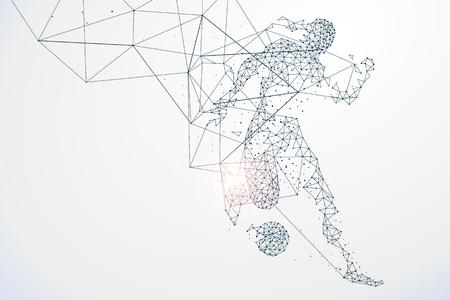 forme et sante: particules graphiques Sports, connexion réseau transformé en, illustration.