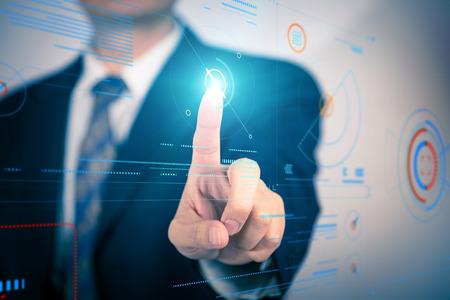 Wirtualny interfejs rzeczywistość, przyszłość nauki i technologii projektowania graficznego.