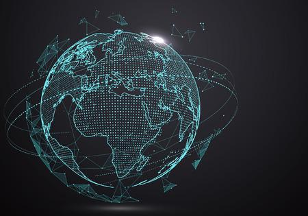未来のグローバル化インターフェイス、科学と技術の感覚は、グラフィックスを抽象化します。