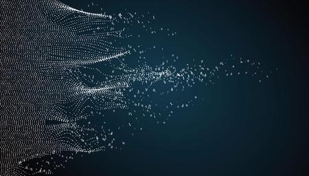 Conception graphique abstraite ondulée, sens de l'histoire de la science et de la technologie. Vecteurs