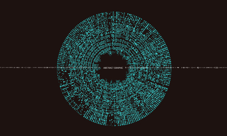 An abstract background consisting of binary numbers. Illustration