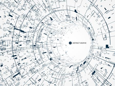 Diseño gráfico abstracto, canal de la tecnología. Foto de archivo - 77343540
