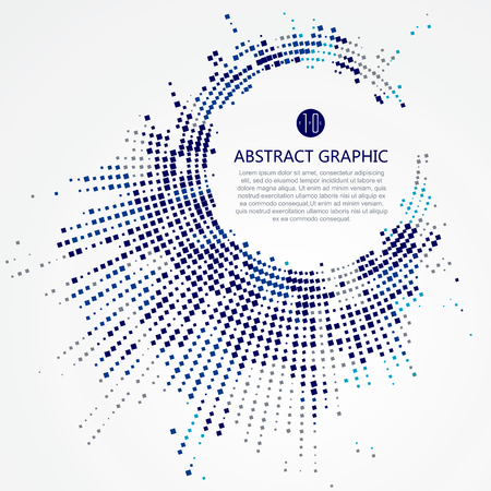 Radial lattice graphic design, abstract background.