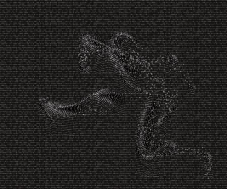 faint: A faint figure out of the net; vector illustration.