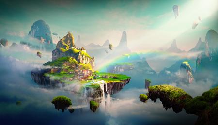 Chinese stijl fantasy scènes. Stockfoto - 78848353