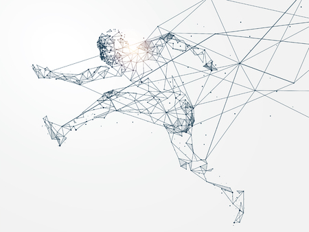 Running Man with Network connection turned into concept image
